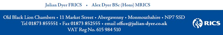 Email us, Julian Dyer, estate agent & chartered surveyor Abergavenny, Raglan, Monmouth